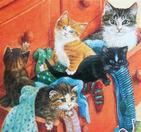 sock drawer relax my cat kitten tabby cat sealed puzzle sock drawer quilt lesley