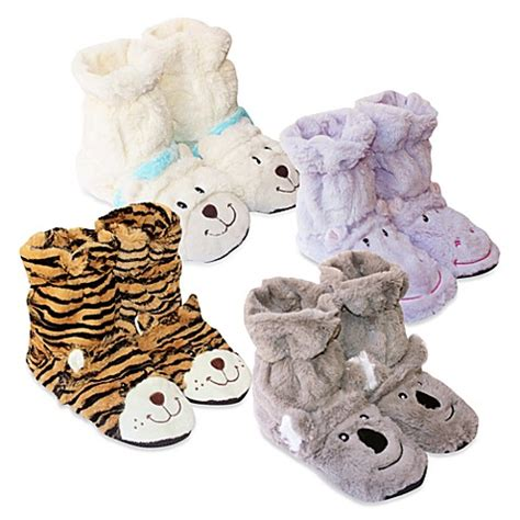 bed bath and beyond slippers microwavable aromatherapy cozy hugs bootie slippers bed