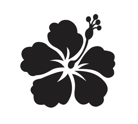 fiori hawaiani disegni hibiscus flower 2 stencil for signs fabric canvas walls