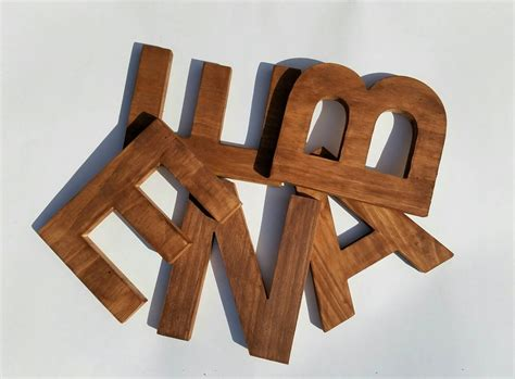 Decorative Wooden Letters by Wooden Letters For Nursery Decorative Letter Rustic Wooden