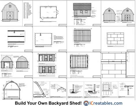 14x20 gambrel shed plans 14x20 barn shed plans