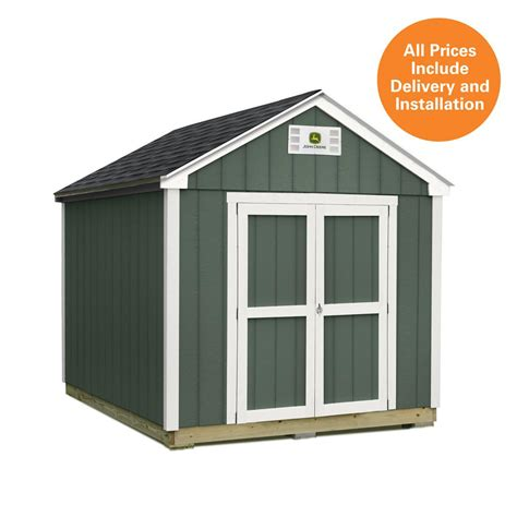 Sheds Usa Consumer Reviews by Sheds Usa 8 Ft X 12 Ft Installed Deere Shed T0812fvp The Home Depot