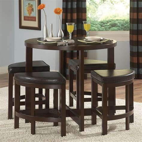 Bar Table Dining Set Shop Homelegance Brussel Brown Cherry 5 Dining Set With Counter Height Table At