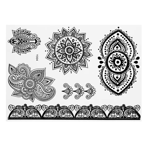 temporary tattoo ink like henna design henna ink lace temporary flash