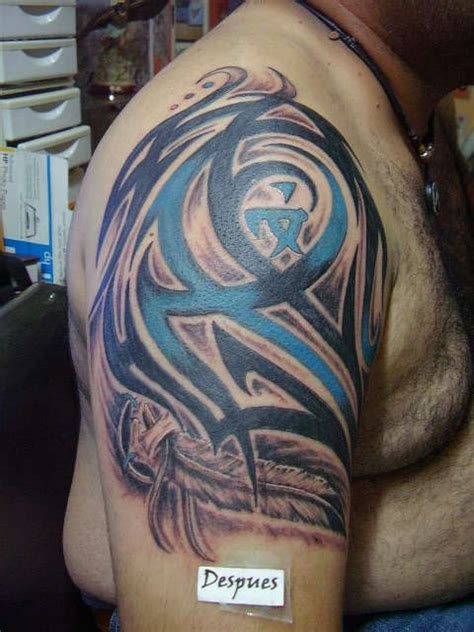 tattoo tribal with color tribal with color black and feather tattoo