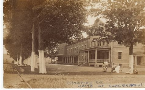 county home at saegertown pa note the trolley