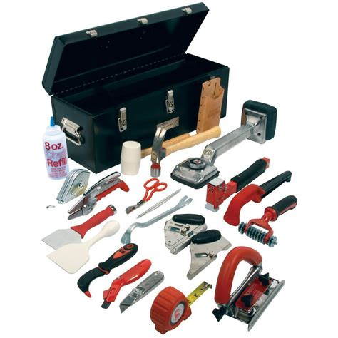 pro carpet installation tool kit with 22 tools and