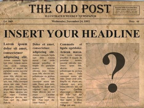 Free Editable Old Newspaper Powerpoint Template Free News Paper Template