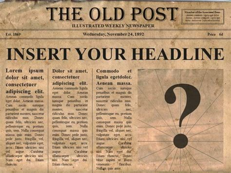 popular editable powerpoint newspapers with this old times