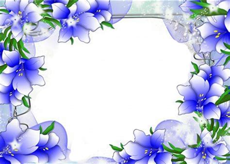 8 Floral And Lovely Projects by Beautiful Blue Flower Border Design Border Design Page