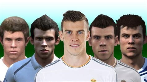 gareth bale fifa hairstyle gareth bale from fifa 07 to 14 youtube
