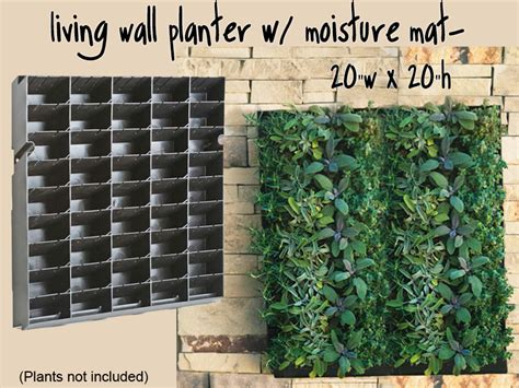 how to make vertical garden wall large living wall planter 20 quot w x 20 quot h diy projects