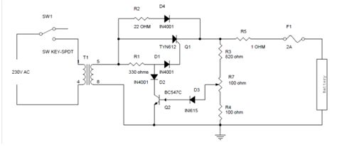 scr controlled battery charger circuit diagram how to make battery charger circuit using silicon
