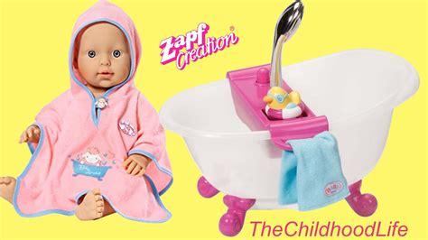 annabelle doll unboxing baby annabell bath set baby born interactive bathtub