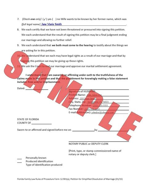 Dissolution Of Marriage Records Florida Florida Divorce Simplified Custom Form