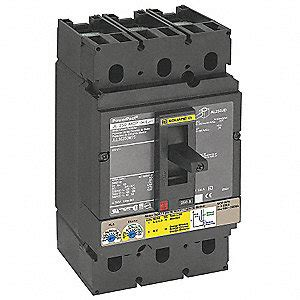 SQUARE D Circuit Breaker, 250 Amps, Number of Poles: 3 ... D 250a