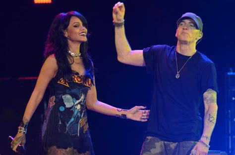 Eminem And Back Together by Rihanna Has On A Of Eminem Daily