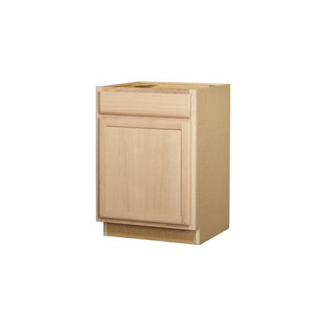 Kitchen Base Cabinet Drawers Shop Project Source 24 In W X 35 In H X 23 75 In D Unfinished Door And Drawer Base Cabinet At