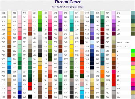 thread color chart embroidery color charts thread twill patchsuperstore