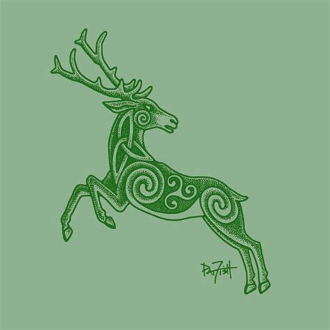 pictish tattoo designs pictish stag stag ideas crew neck