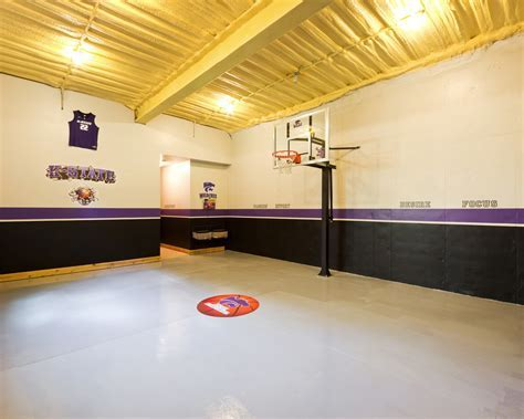 Indoor basketball court ideas home gym modern with
