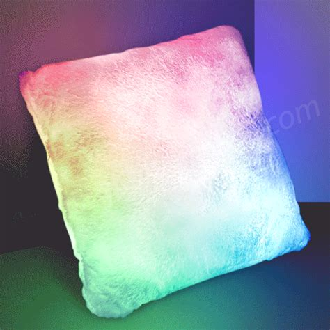 light up pillow with change led mood lighting by