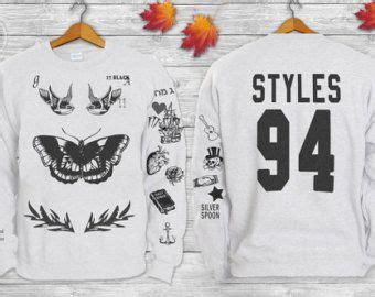 harry tattoo sweater harry styles tattoos one direction 1d crewneck sweatshirt
