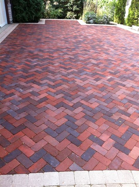 brick herringbone pattern for patio driveway for the home pinterest gardens herringbone