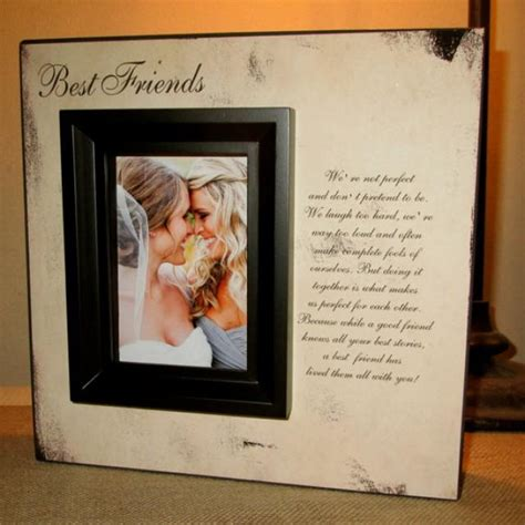 best photo gifts best friend best friends picture frame poem quote