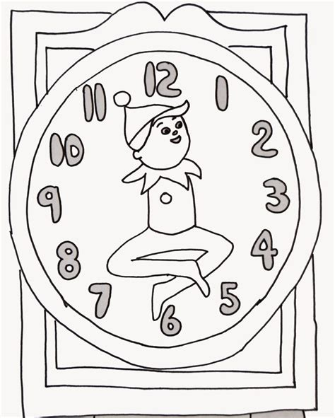 Girl Elf On The Shelf Coloring Pages On The Shelf Coloring Page