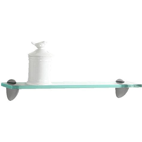 glass bracketed wall shelf clear 18 quot walmart