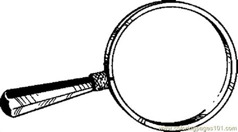 Magnifying Glass 04 Coloring Page   Free School Coloring