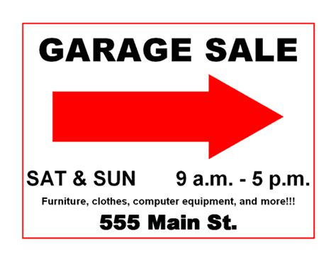 Garage Sale Signs What Not To Do And How To Drive Traffic To Your Sale Rachel Teodoro Garage Sale Sign Template Word