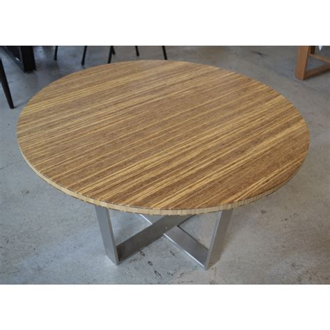Element Coffee Table Bamboo Coffee Table With Stainless Steel Legs The Room