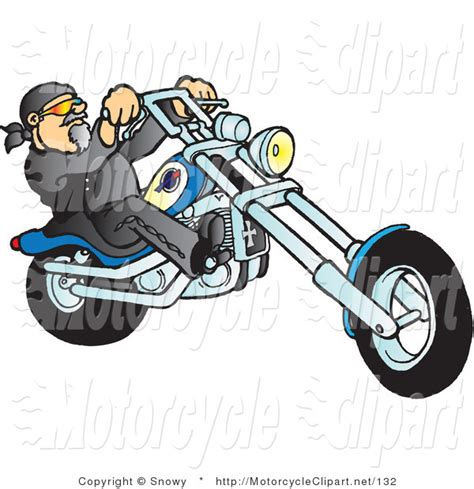 motorcycle clipart transportation clipart of a biker by snowy 132
