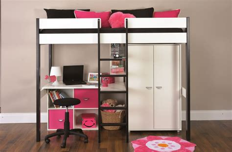bunk beds stompa uno wooden high sleeper  wardrobe