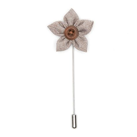 Lapel Pin Brown flower lapel pin brown tweed bold lapel pins touch