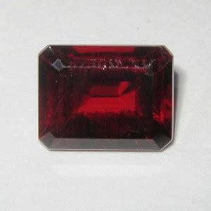 Pyrope Garnet Plus Memo batu mulia garnet potongan segi panjang 2 89 carat