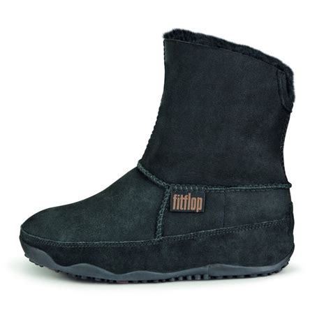 mukluk boots fitflop mukluk suede original boot in black from mozimo