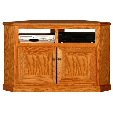 Corner Tv Cabinet With Doors by Classic Oak 50 Quot Corner Tv Cabinet 2 Shelves 2