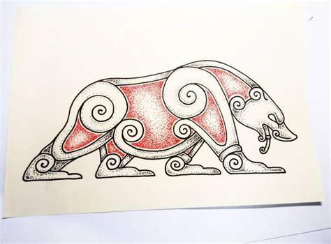 viking tattoo animal 25 best ideas about viking knotwork on pinterest viking