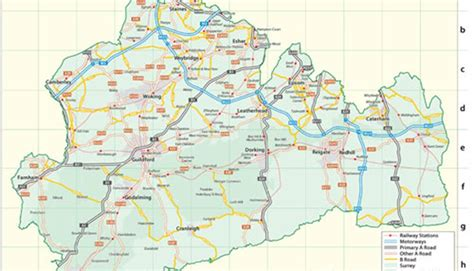 Best Bed Sheet by Map Showing Surrey Towns And Villages Information Sheet
