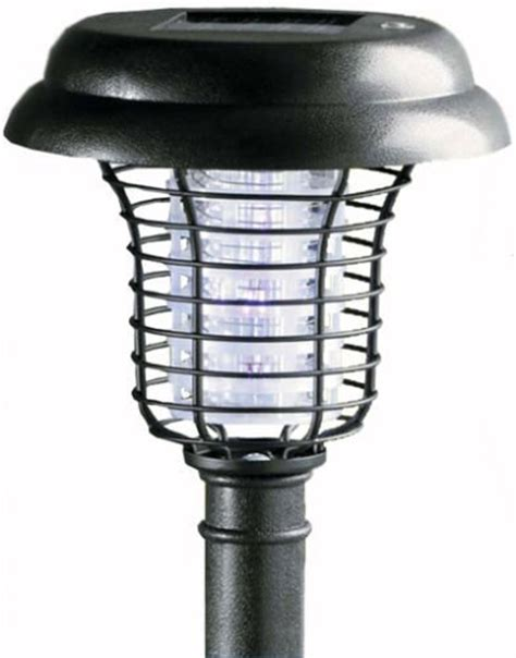 Solar Bug Light Turbotech Solar Powered Outdoor Electronic Bug Zapper Pest