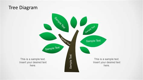 Tree Diagram Illustration For Powerpoint Slidemodel Tree Diagrams Ppt