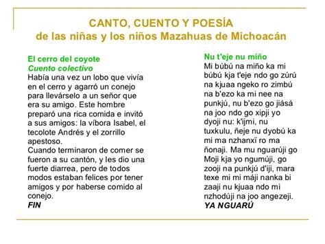 poemas e n lengua indigenas lenguas indigenas de mexico