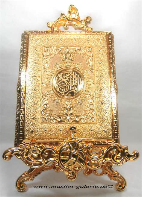 edle koran quran truhe metal gold allah islam muslim