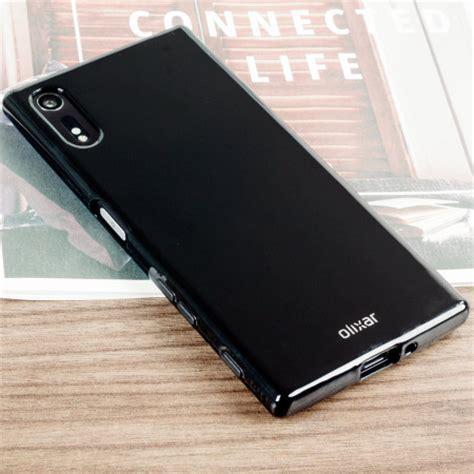 olixar flexishield sony xperia xzs gel case solid black