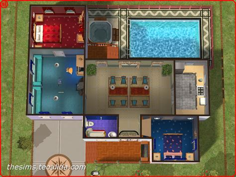 All American Homes Floor Plans by American Style Single Story Home The Sims Fan Page