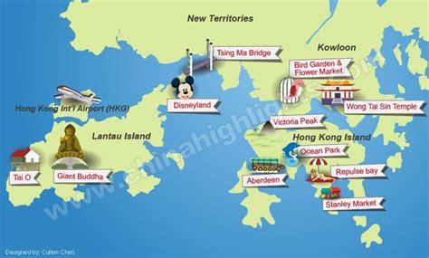 map world hong kong hong kong maps attractions streets roads and transport map