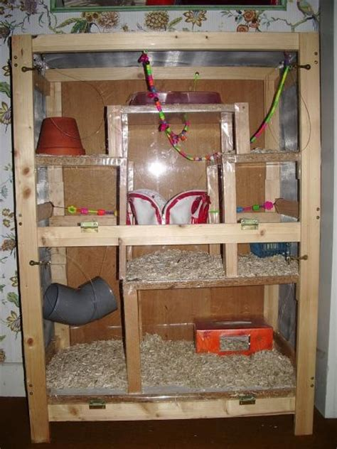 photo cage chinchi fait maison nouveaux animaux de compagnie rats reptiles furets
